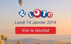 Résultat Loto du lundi 14 janvier 2019