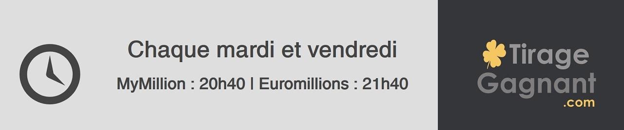horaire super tirage EuroMillions du 1er février 2019