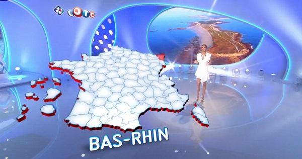 carte du gagnant Loto du département du  Bas-Rhin