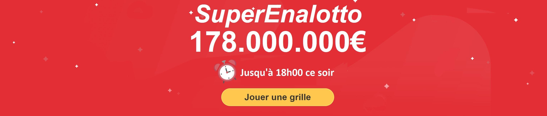 jouer une grille de la loterie superenalotto italienne en ligne