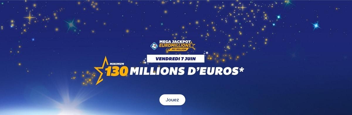 jouer au Mega Jackpot euromillions du 7 juin 2019