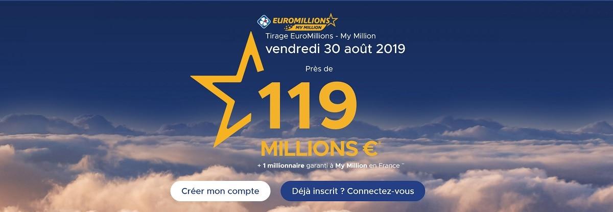 jouer à euromillions ce vendredi 30 août 2019