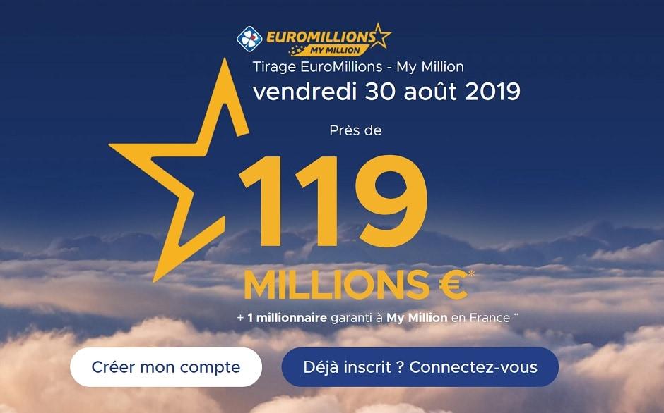 super tirage Euromillions du vendrefdi 30 août 2019