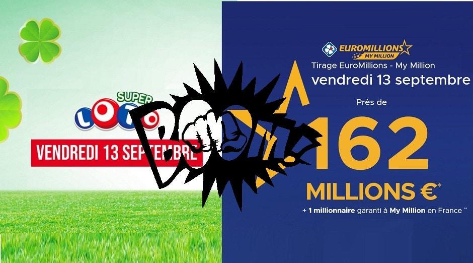 comparatif Super Loto et Euromillions
