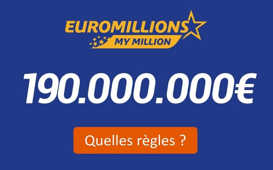 Euromillions : quelles règles pour le plafond de l'Euroimillions ce mardi 24 septembre 2019