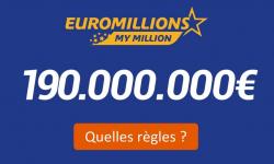 euromillions plafond 190 millions euros quelle regles