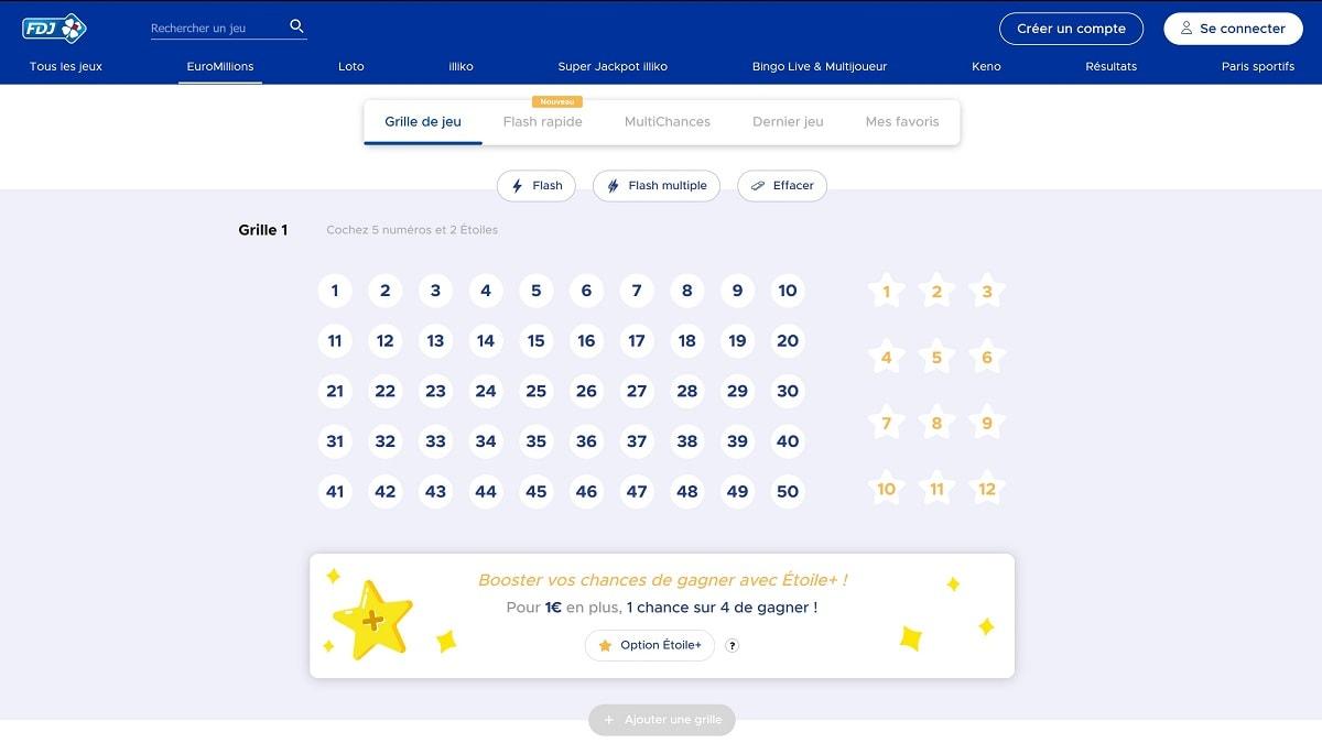 grilles euromilions du vendredi 27 septembre 2019