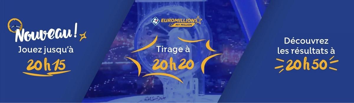 quelles sont les principales heures de tirage Euromillions ce mardi 24 septembre 2019