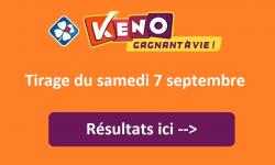 resultat keno samedi 7 septembre 2019