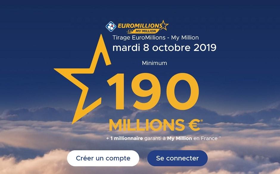 comment jouer à l'Euromillions ce mardi 8 octobre 2019