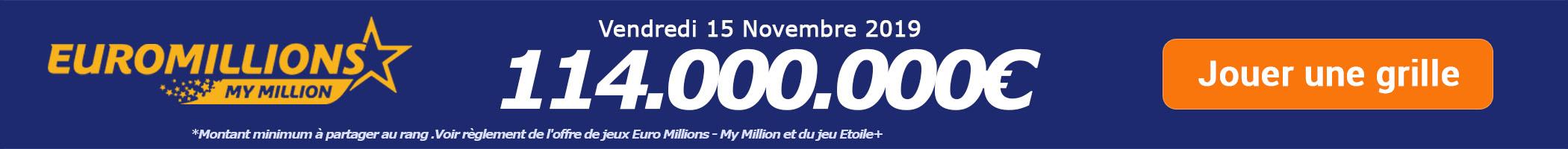 Jouer pour le Super tirage Euromillions de 104.000.000€ ce mardi 12 novembre !