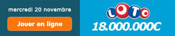 Jouer pour le tirage Loto de 16.000.000€ ce samedi 16 novembre !
