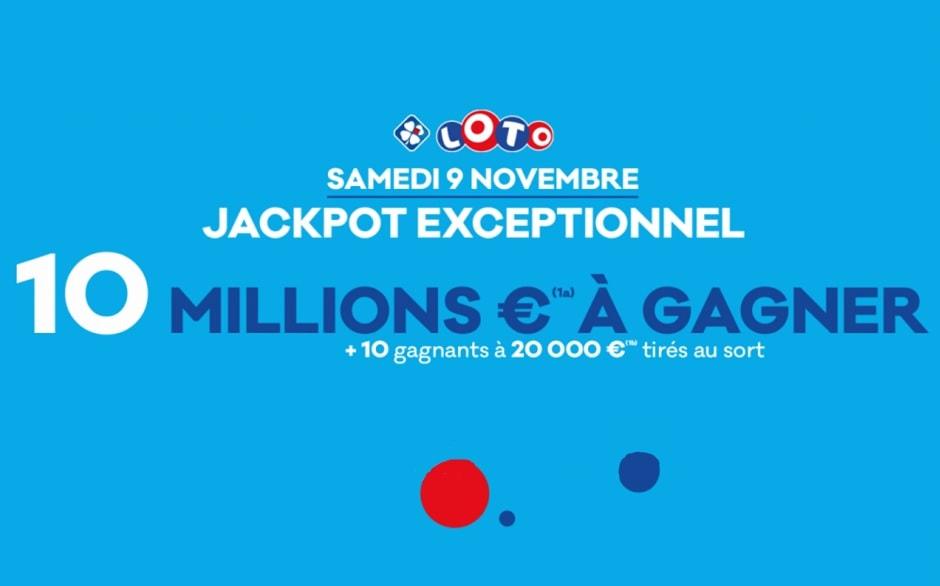 super jackpot Loto du samedi 9 novembre 2019