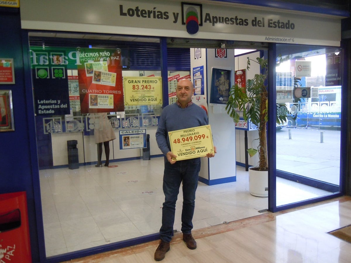 point de vente à madrid où la grille gagnante Euromillions a été jouée