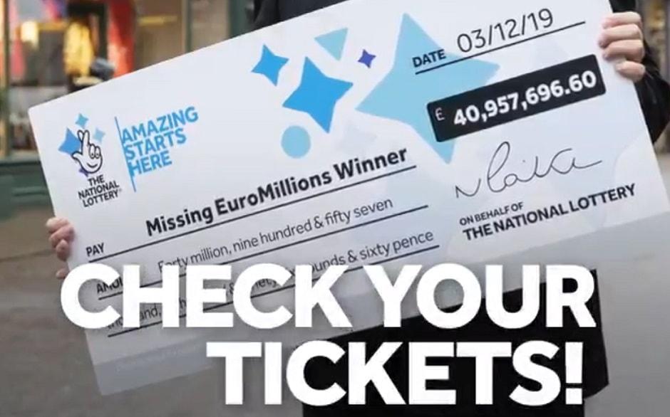 recherche du gagnant Euromillions britannique du 3 décembre 2019