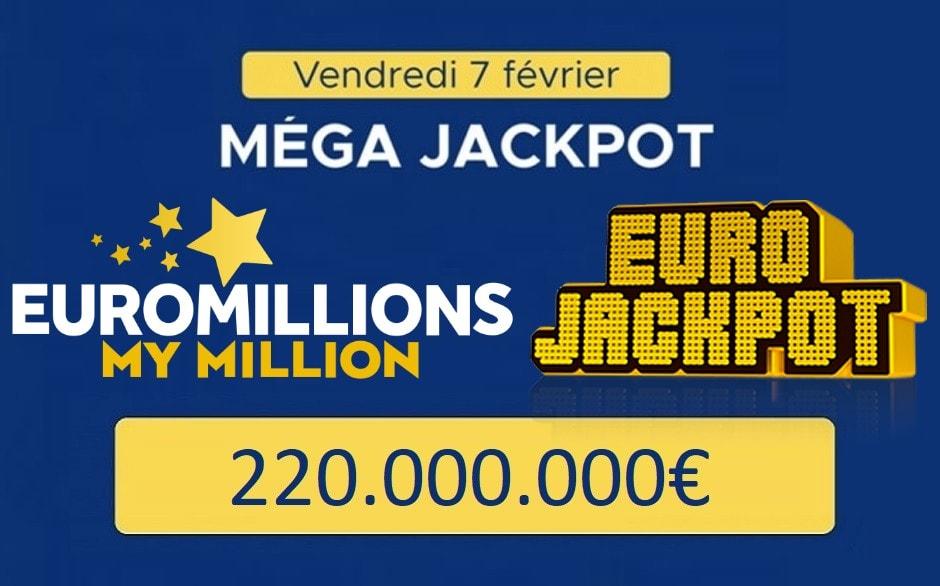 Euromillions et Eurojackpot ce 7 février 2020