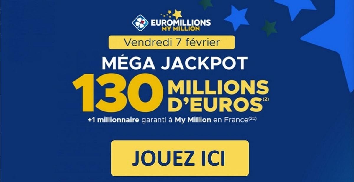 jouer au prochain mega jackpot Euromillions