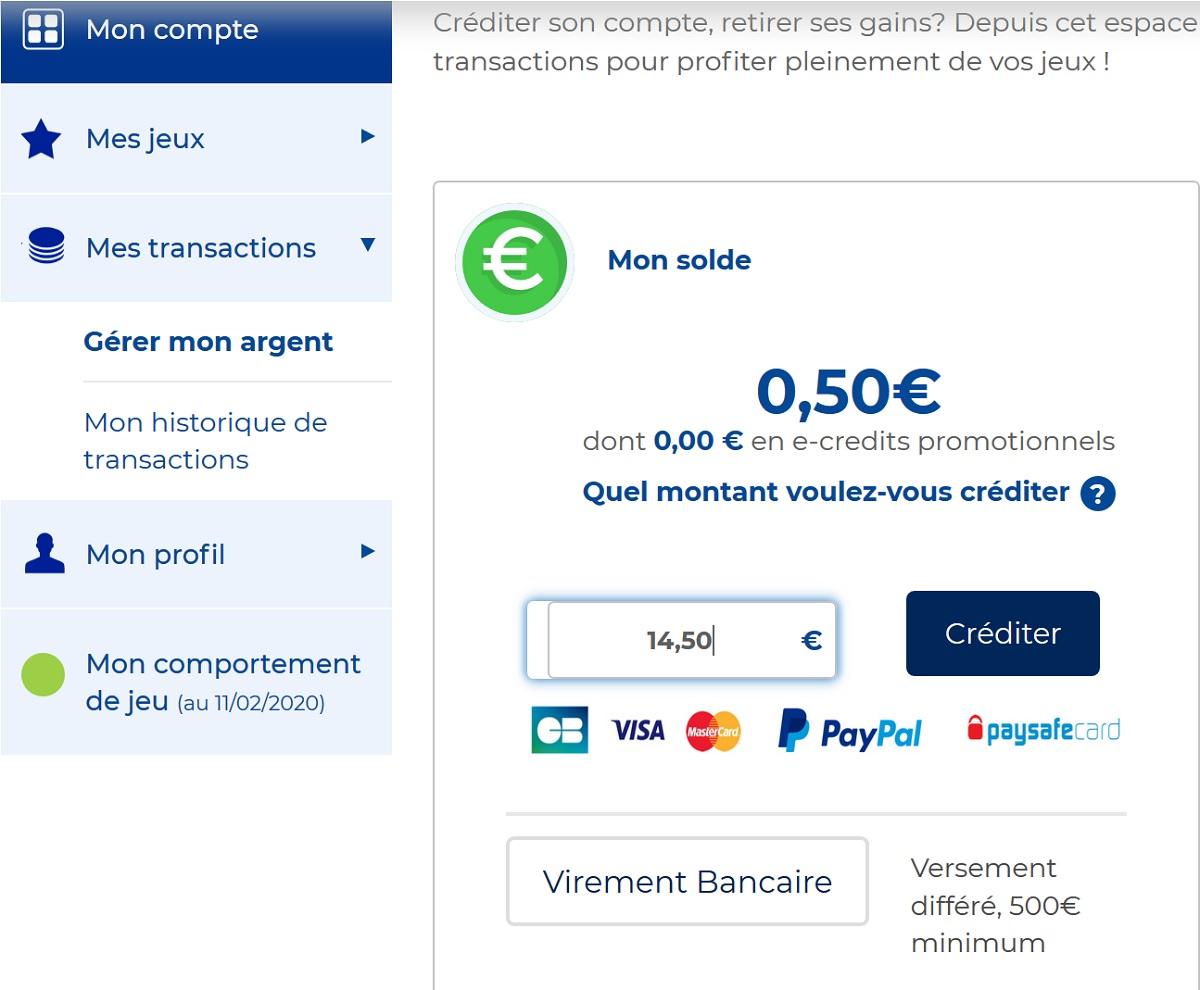 Créditer votre compte FDJ.fr pour le Super Loto