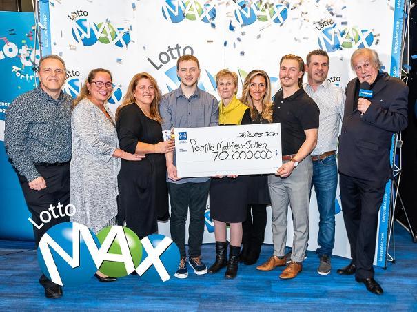 Famille Matthie-Julien, gagnante du Lotto Max