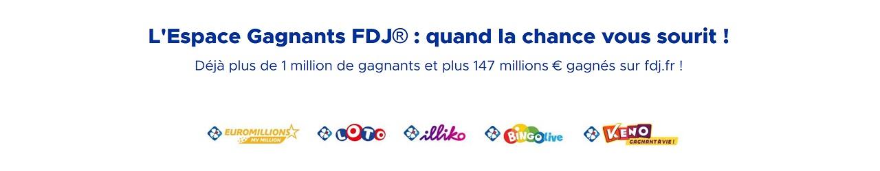 FDJ.fr : les gagnants en ligne