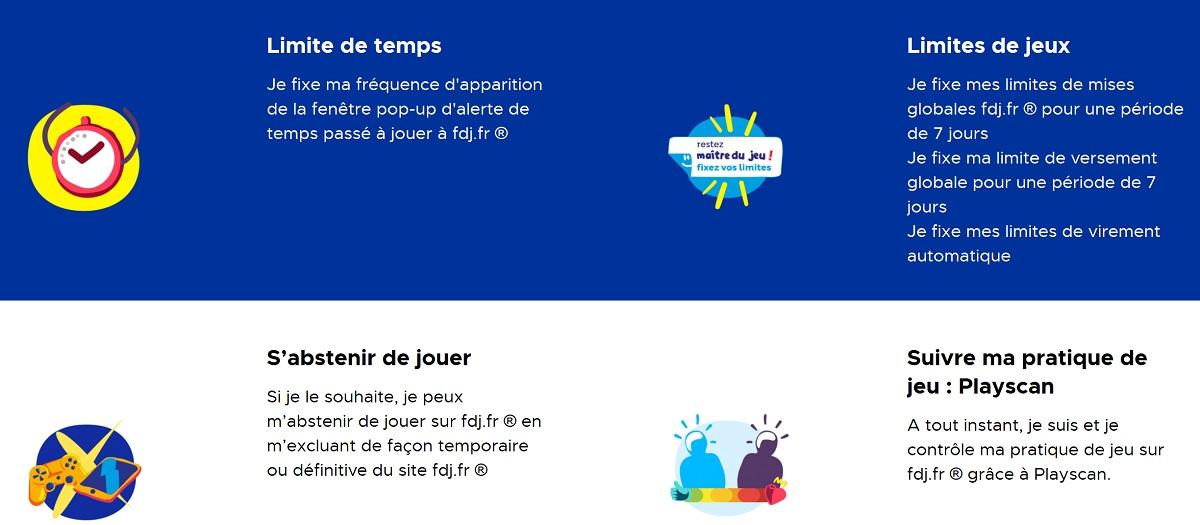 Fixer les limites de jeux FDJ.fr