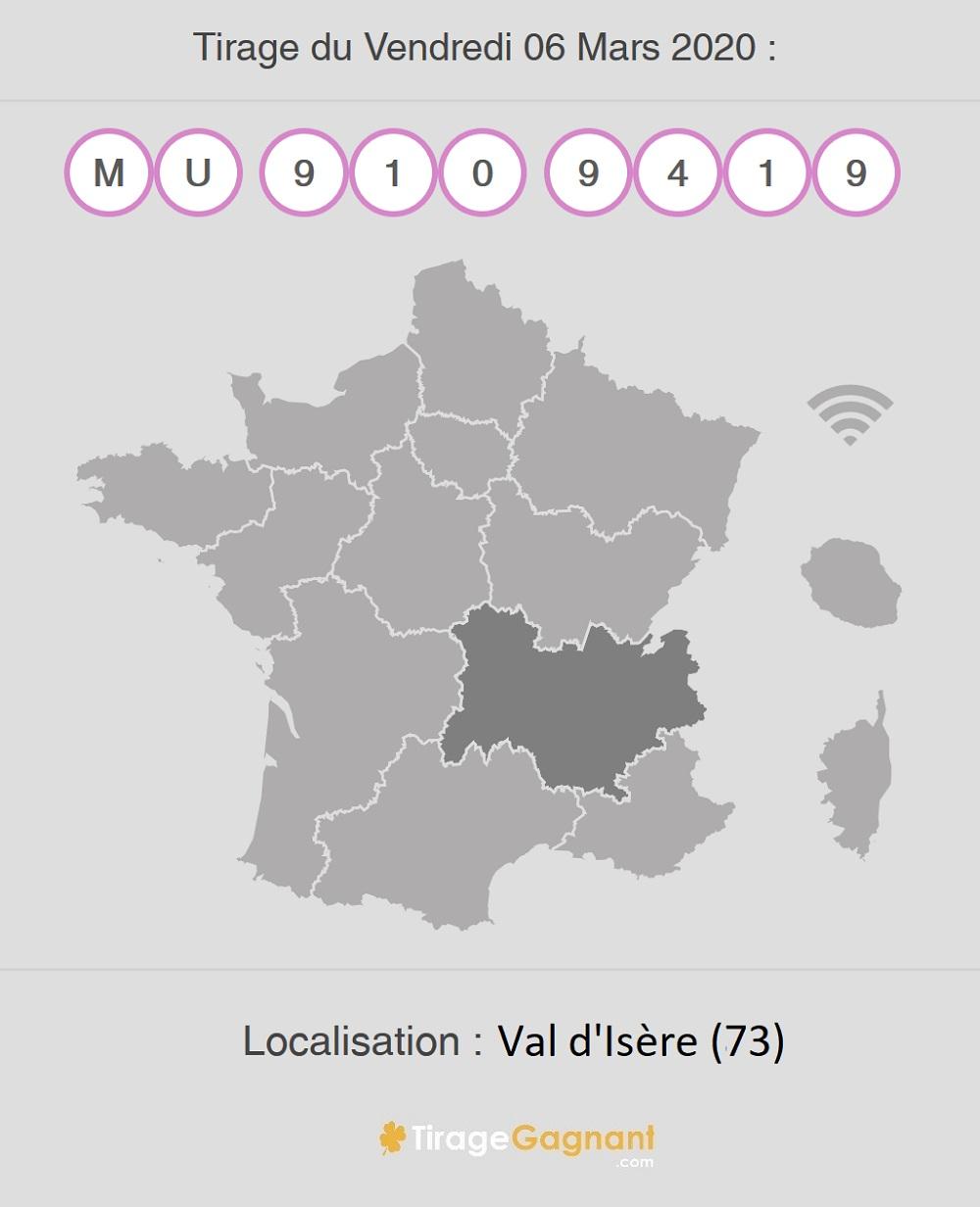 Gagnant My Million du 6 mars 2020 à Val d'Isère