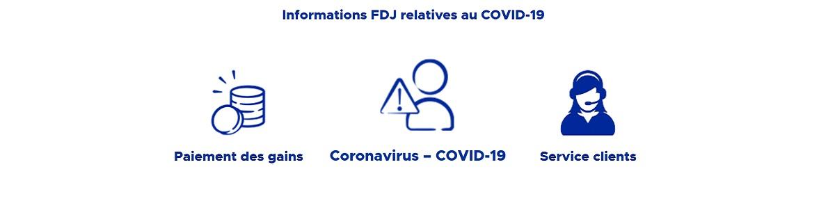 Information FDJ : covid 19 et paiement des gains