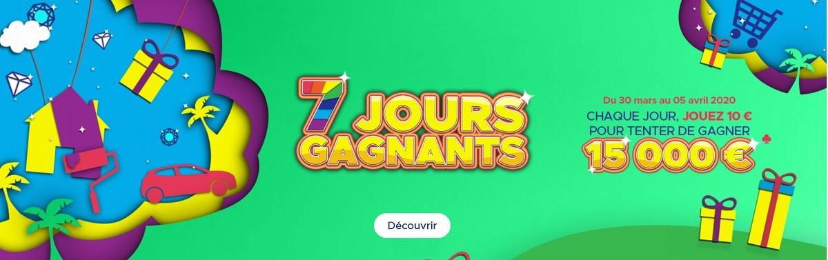 jouer à l'opération FDJ.fr : 7 jours gagnants