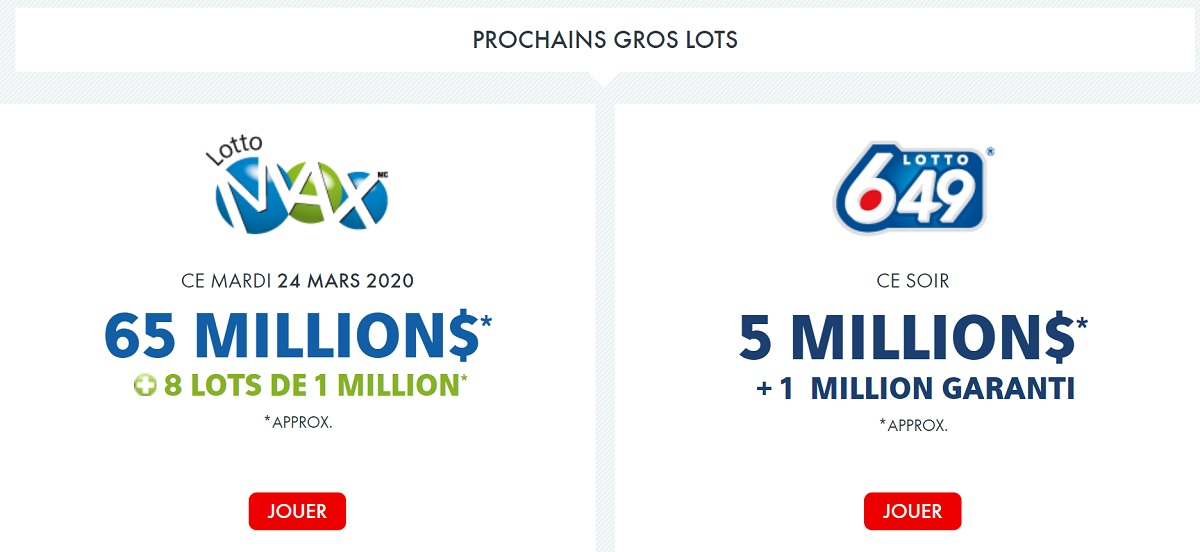 Loteries Pancanadiennes : Lotto Max et Lotto 6/49