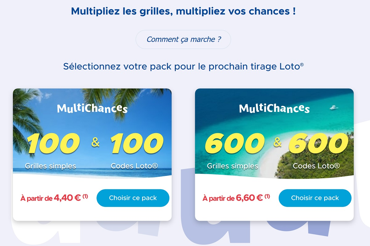 Packs Multichances Loto : comment y jouer