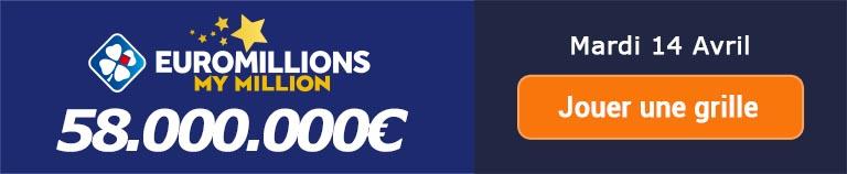 Jouer pour le tirage Euromillions ce mardi 7 avril 2020