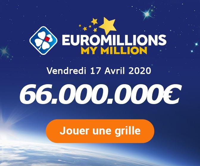Jouer pour le tirage Euromillions ce vendredi 10 avril 2020