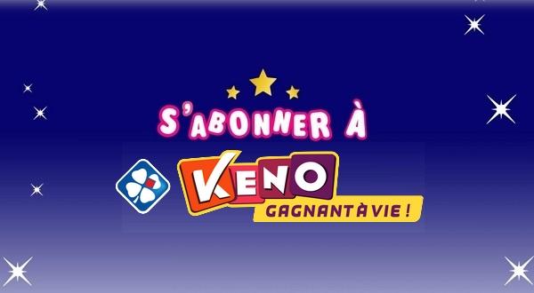 Abonnement Keno FDJ : comment s'abonner aux tirages du Keno Gagnant à Vie ?