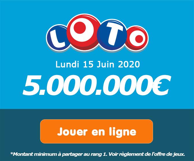 Jouer pour le tirage Loto du mercredi 3 juin 2020