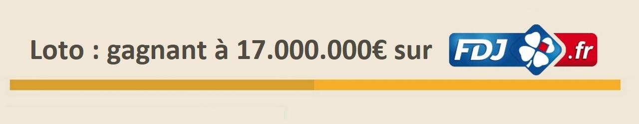 Loto FDJ : un gagnant à 17 millions d'euros sur internet