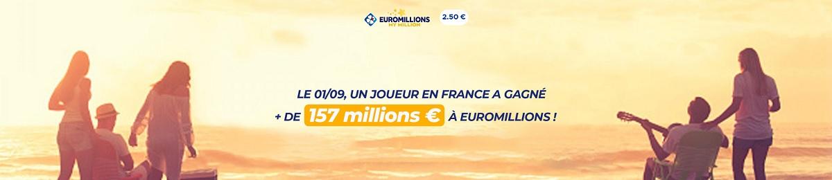 Gagnant Euromillions : un français remporte 157 millions d'euros