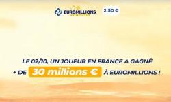 EuroMillions : 30,6 millions d'euros remporté en ligne par un joueur n'ayant joué que 2 fois dans sa vie