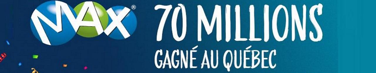 Gagnant Lotto Max : un millionnaire de 70 millions de dollars au Québec