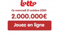 Tirage Lotto Belge du mercredi 21 octobre 2020 : jouer en ligne pour 2 millions d'euros
