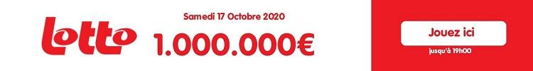 jouer au Lotto Belge du samedi 17 octobre 2020