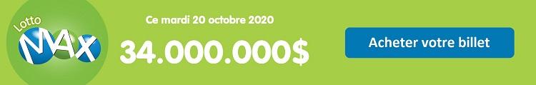 Jouer au Lotto Max ce mardi 20 octobre 2020