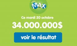 Résultat Lotto Max du mardi 20 octobre 2020 : 1 gagnant remporte 188 000$ au tirage en Ontario