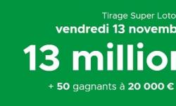 Super Loto du Vendredi 13 novembre 2020 : 13 millions d'euros + 50 codes à 20 000€