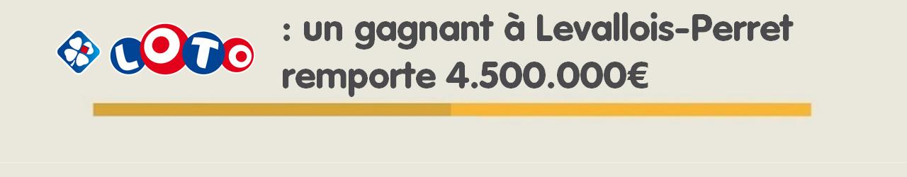 Gagnant Loto des Hauts-de-Seine à Levallois Perret