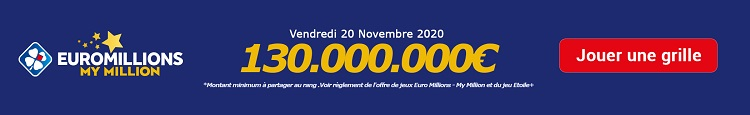 jouer a Euromillions My Million du vendredi 20 novembre 2020