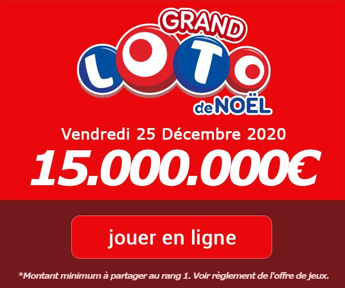 jouer au Grand Loto de Noël ce vendredi 25 décembre 2020
