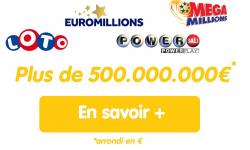Loteries : plus de 500 millions d'euros à gagner cette semaine (Loto, Euromillions, Powerball et MegaMillions)