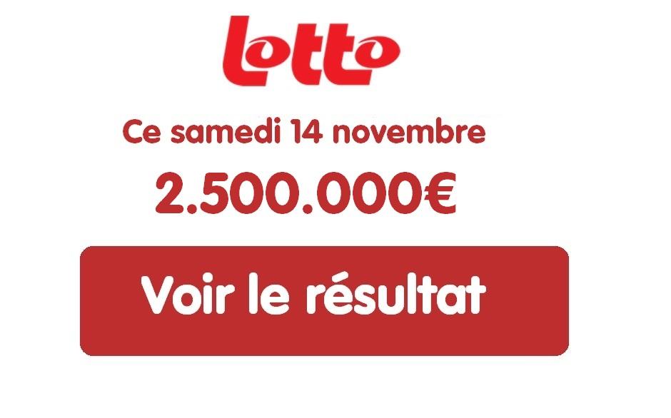 Résultat Lotto Belge du samedi 14 novembre 2020