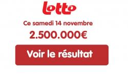 Résultat Lotto belge du samedi 14 novembre 2020 : 2 gagnants remportent 1'250'000€ chacun au tirage