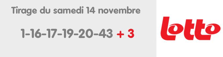 Résultat du Lotto belge de ce samedi 14 novembre 2020